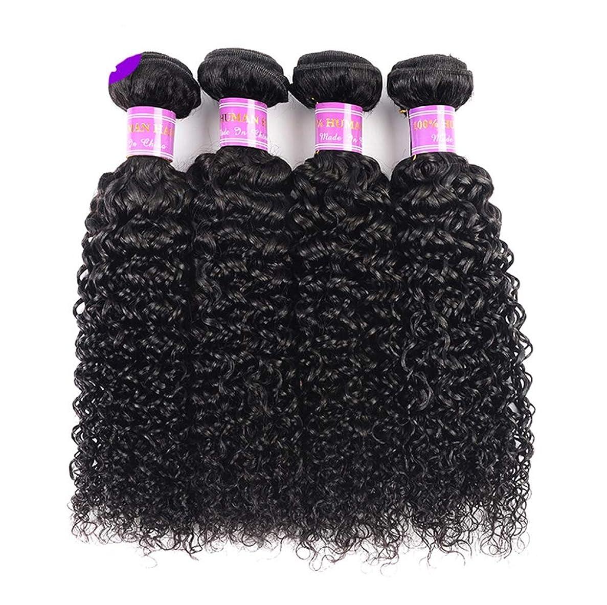 誘惑相互接続傾向がある髪織り未処理ブラジルディープカーリーヘアバンドル本物の人間の髪バンドルバージンブラジル髪バンドル1個/パックナチュラルカラー(100 +/- 5g)/ pc