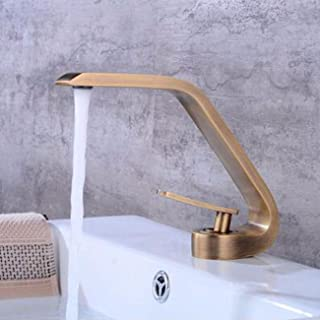 Bathroom Sink Faucet All Copper European Style Black Vintage Basin Washbasin, Washbasin, Washroom, Bathroom, Cold And Hot, Creative Faucet,I