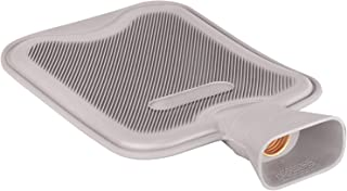 HomeTop Premium Classic Rubber Hot Water Bottle, Great for Pain Relief, Hot and Cold Therapy (2 Liters, Gray)