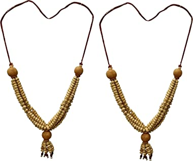 Snabs Chandan Mala for Photo Frame Gods Idols, Garland for Photo Frames, Small 20 cm, Set of 2