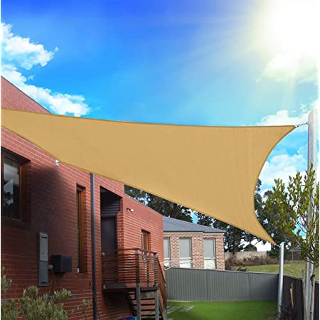 300 x 200 cm jarolift Water-Repellent Rectangular Sun Shade Sail Orange