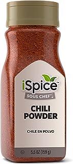 iSpice PREMIUM CHILI POWDER| Pure and Fresh |Essential Kitchen Spice|5.6oz (159g)