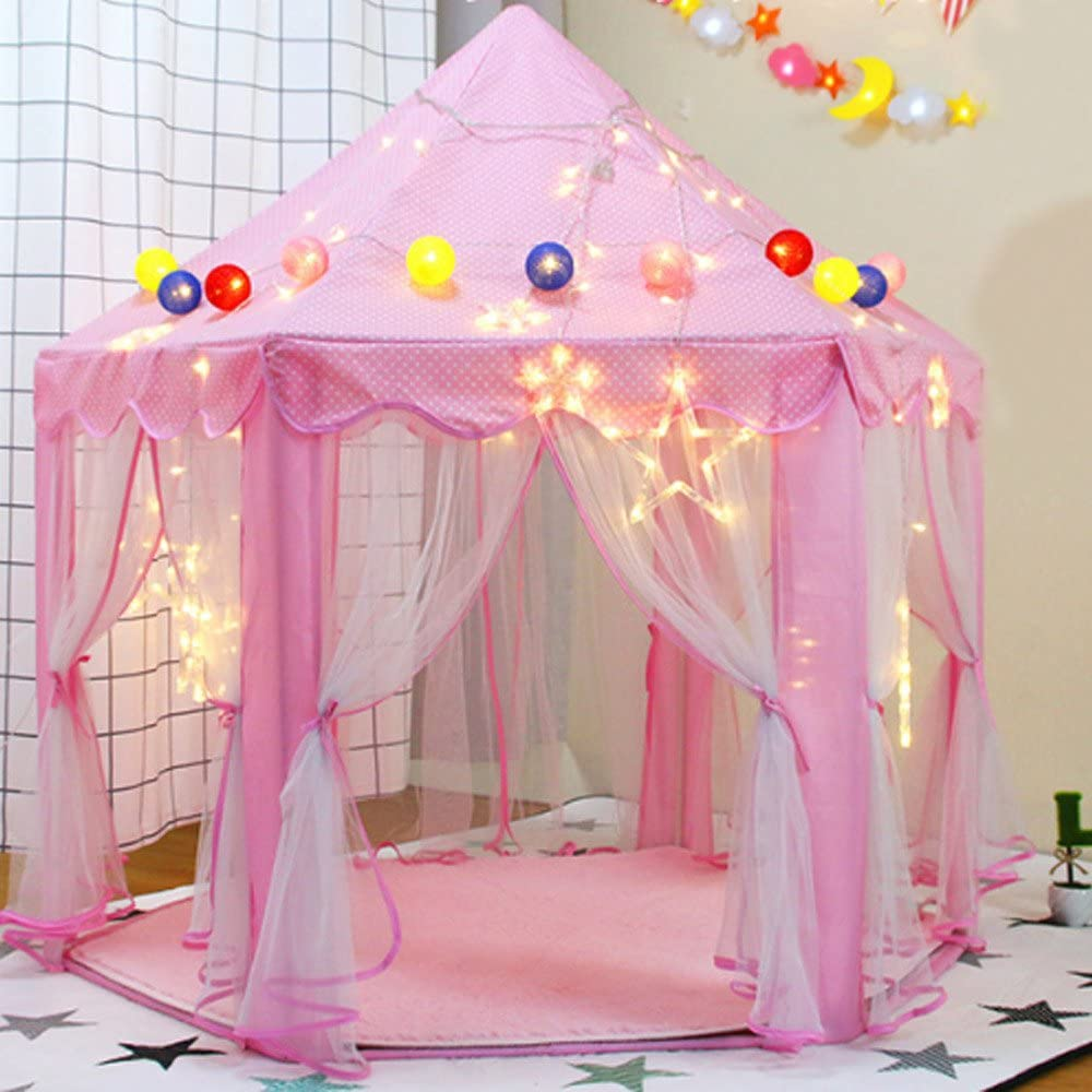 HKH Kids Fairy Princess Castle Hexagon Ind Playhouse 5 ☆ very popular Girls Tents San Diego Mall