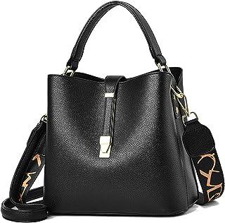 Travistar Umhängetasche Damen Klein, 2 Arten von Einstellbar Schultergurten Handtaschen Damen Schwarz Crossbody Bag PU Led...