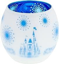 Disney Parks Glass Frosted Cinderella Castle Votive Candle Holder New