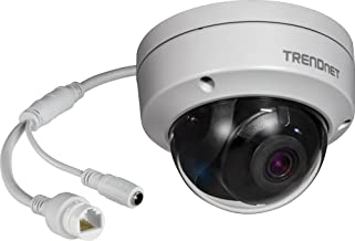 TRENDnet Indoor/Outdoor 5MP H.265 WDR PoE IR Dome Network Camera, Night Vision up to 30 M (98 ft.), IP67 Rated Housing (-22° – 140°F), 120dB WDR, Free App for Android and IOS, TV-IP317PI