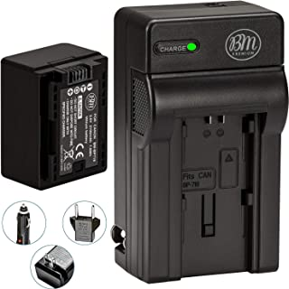 BM Premium BP-718 Battery and Charger for Canon Vixia HFR80, HFR82, HFR800, HFM50, HFM52, HFM500, HFR30, HFR32, HFR300, HF...