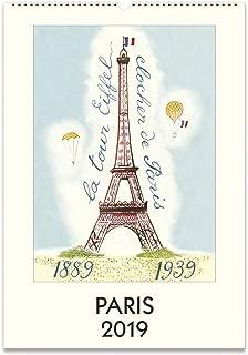 Cavallini Papers & Co. 2019 Paris Wall Calendar, Multicolor