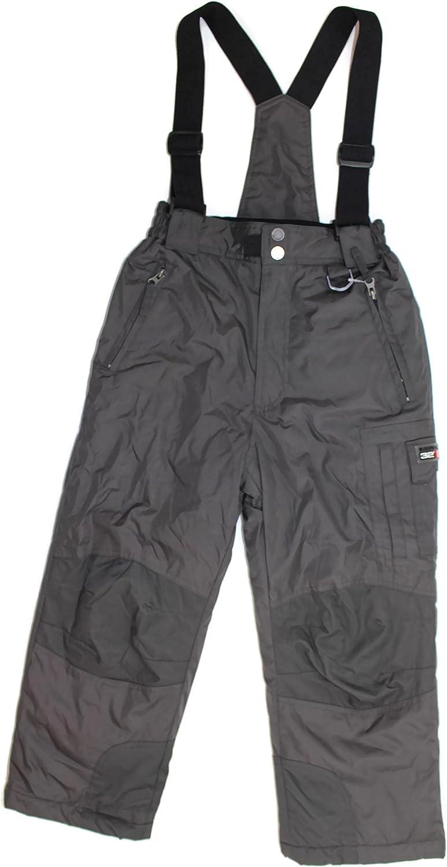 32 DEGREES Weatherproof Boy's Zip-Off Suspender Pants In Charcoal