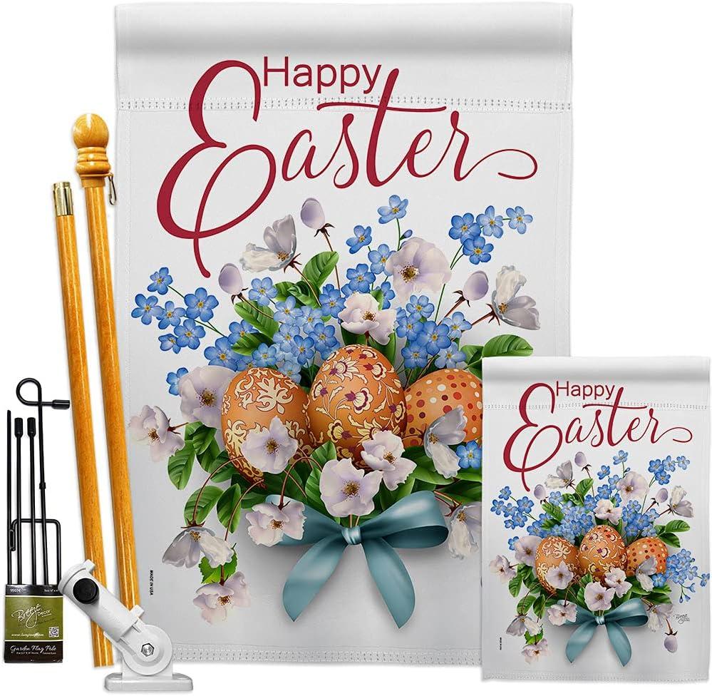 Breeze Decor Bouquet Garden House wholesale Flag Easter Kit Happy Spring Very popular B