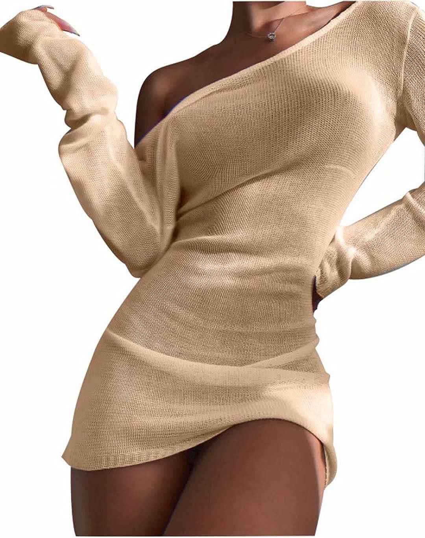 Ekaliy Women's Sexy Swimsuit Cover Ups Backless See Through Sheer Loose Beach Bikini Dresses for Swimwear