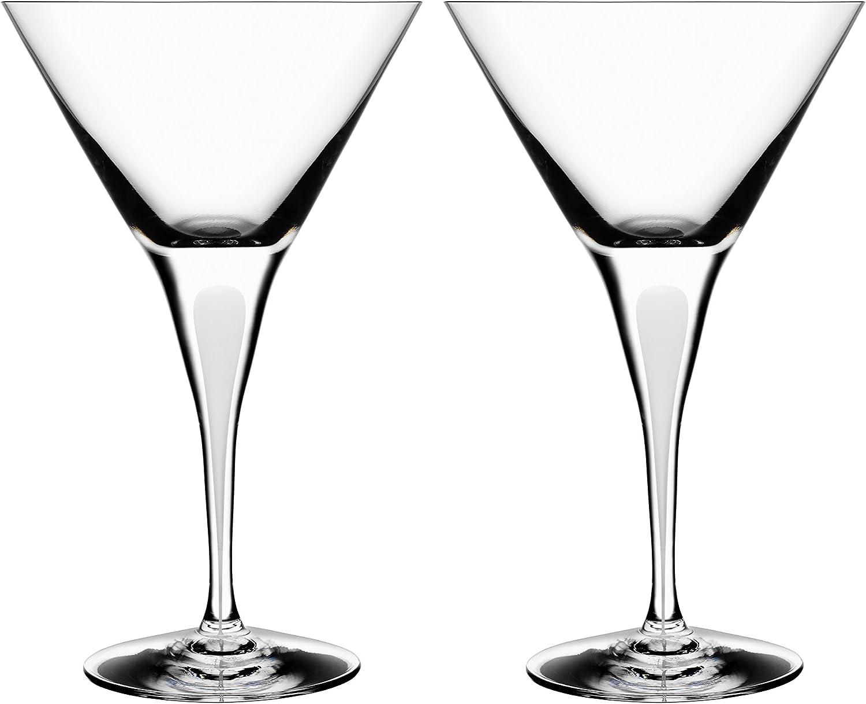 Orrefors Intermezzo Satin 7 El Paso Mall Ounce 2 Set Glass Max 80% OFF of Martini