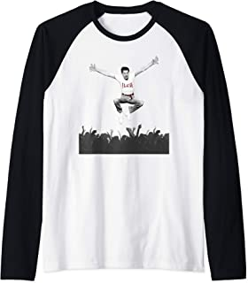 Freddie Mercury Official Flash Jump Crowd Raglan Baseball Tee