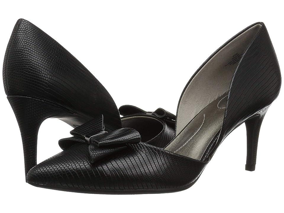 Bandolino Gage Heel (Black Lizard) High Heels
