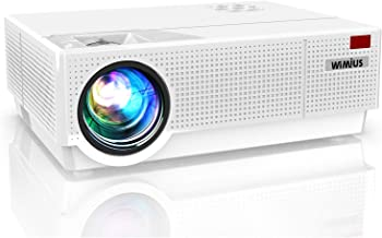 Projector, WiMiUS Upgrade P28 7200 Lux LED Projector Native 1920x1080 Video Projector Support 4K Dual 10W Speaker, 300'' S...
