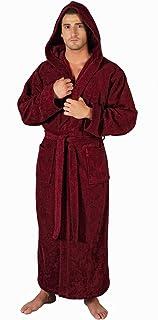 21ec0fc2d3 Arus Men s Full Length Long Hooded Turkish Cotton Bathrobe