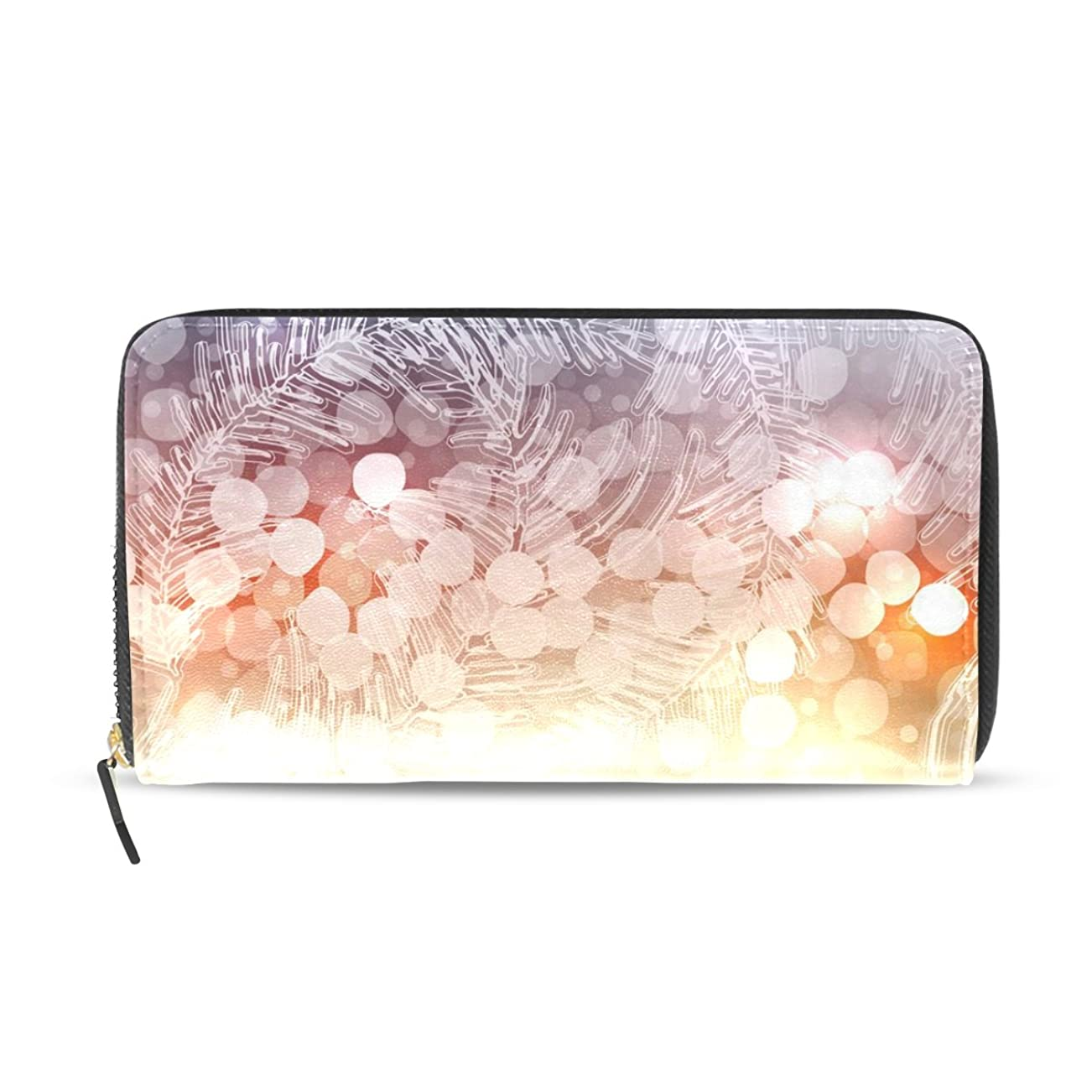 不十分な覚えている専門用語GORIRA(ゴリラ) クリスマスの光 長財布 レディース PU ダブルサイド印刷 ァスナー開閉式 ウォレット
