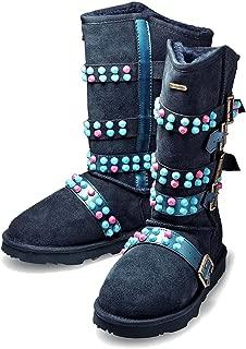 K.Signature Womens Josephine Studded Sheepskin Winter Boots