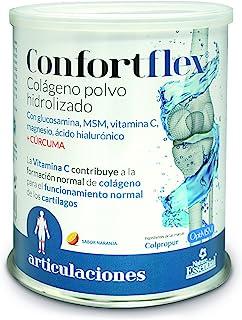 Confortflex® colágeno polvo hidrolizado con. magnesio. glucosamina. MSM. silicio. vitamina C. zinc. ácido hialurónico. vitamina B-3. vitaminaB-5. vitamina B-6 y cúrcuma– 390 gramos. 30 días.