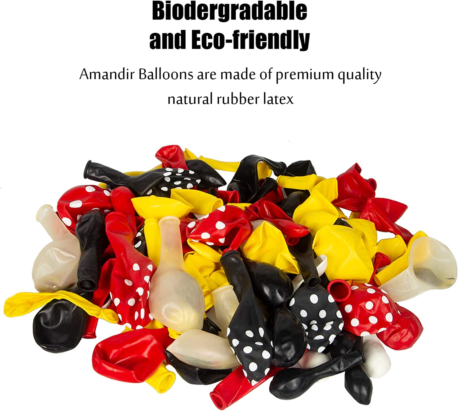 Foil Confetti Black Red Yellow Latex Balloons with Happy Birthday Banner for Mickey Theme Birthday Party Supplies Decorations with 4 Balloon Tools Cartoon Mouse Birthday Balloons Arch Garland Kit