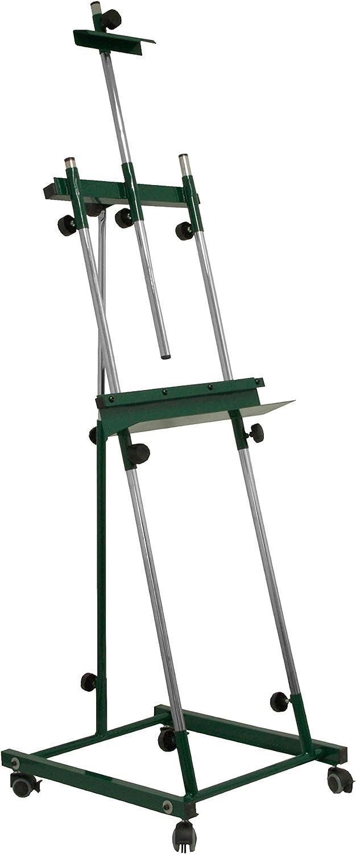 barato y de alta calidad Sonpó Online - Modelo Goya verde - Caballete de Pintura Pintura Pintura Profesional para Pintar Cuadros - Estructura de Acero de Alta Resistencia con Acabados en Color verde  sorteos de estadio