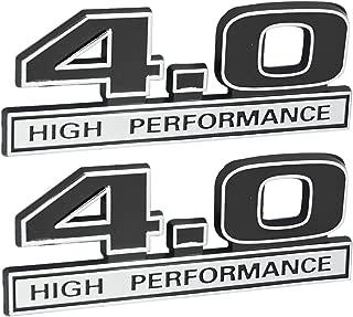4.0 Liter V6 High Performance Engine Emblems in Chrome & Black - 5