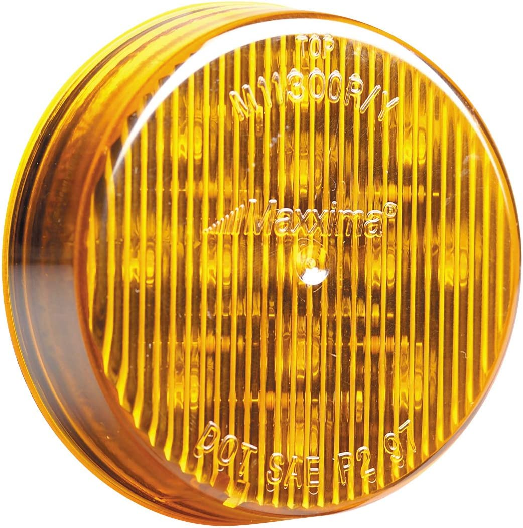 1 per pack Amber 2 1//2 Round Side Marker Lights With Reflector