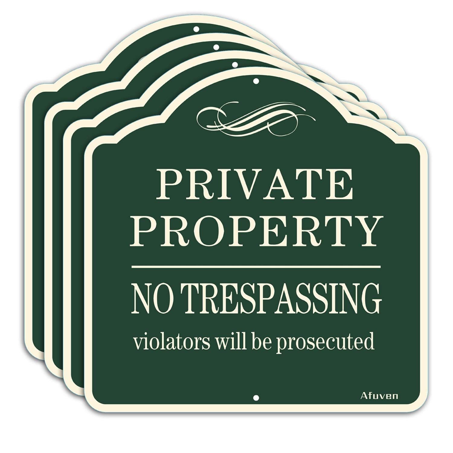4-Pack Private Property Signs No Metal Max 48% OFF 12