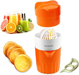 Hand Juicer Citrus Orange Squeezer Manual Lid Rotation Press Reamer for Lemon Lime Grapefruit with Strainer