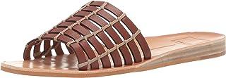 Dolce Vita Women's COLSEN Slide Sandal, brown leather, 7 M US
