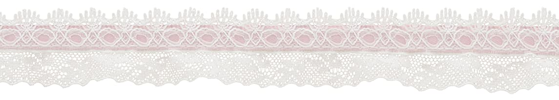 Simplicity 32 mm Beading Lace Trim and Embellishments, Pink