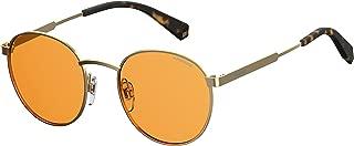 Polaroid Sunglasses Pld2053s Polarized Oval Sunglasses, Orange, 51 mm