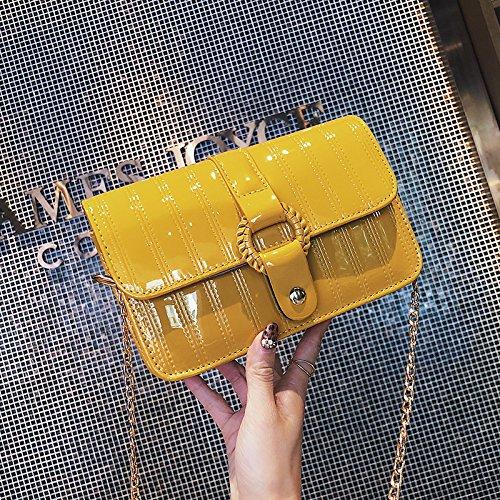 Bolso amarillo de fiesta estilo bandolera