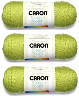 Caron Bulk Buy Simply Soft Yarn Solids (3-Pack) Chartreuse H97003-9771