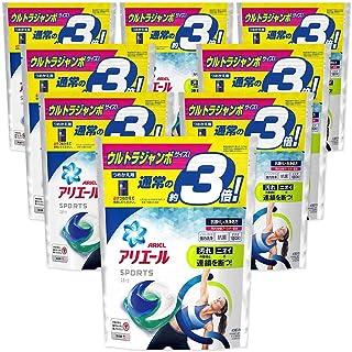 【ケース販売】アリエール プラチナスポーツ 洗濯洗剤 ジェルボール3D 詰め替え ウルトラジャンボ 40個(約3倍)x8袋