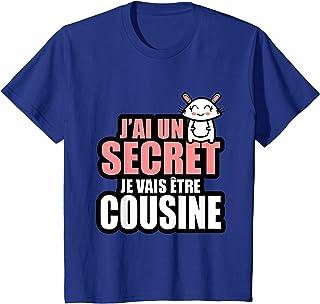 Enfant J'ai un secret je vais être cousine T-Shirt