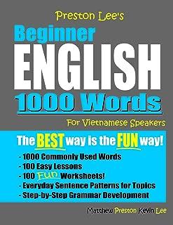 Preston Lee's Beginner English 1000 Words For Vietnamese Speakers