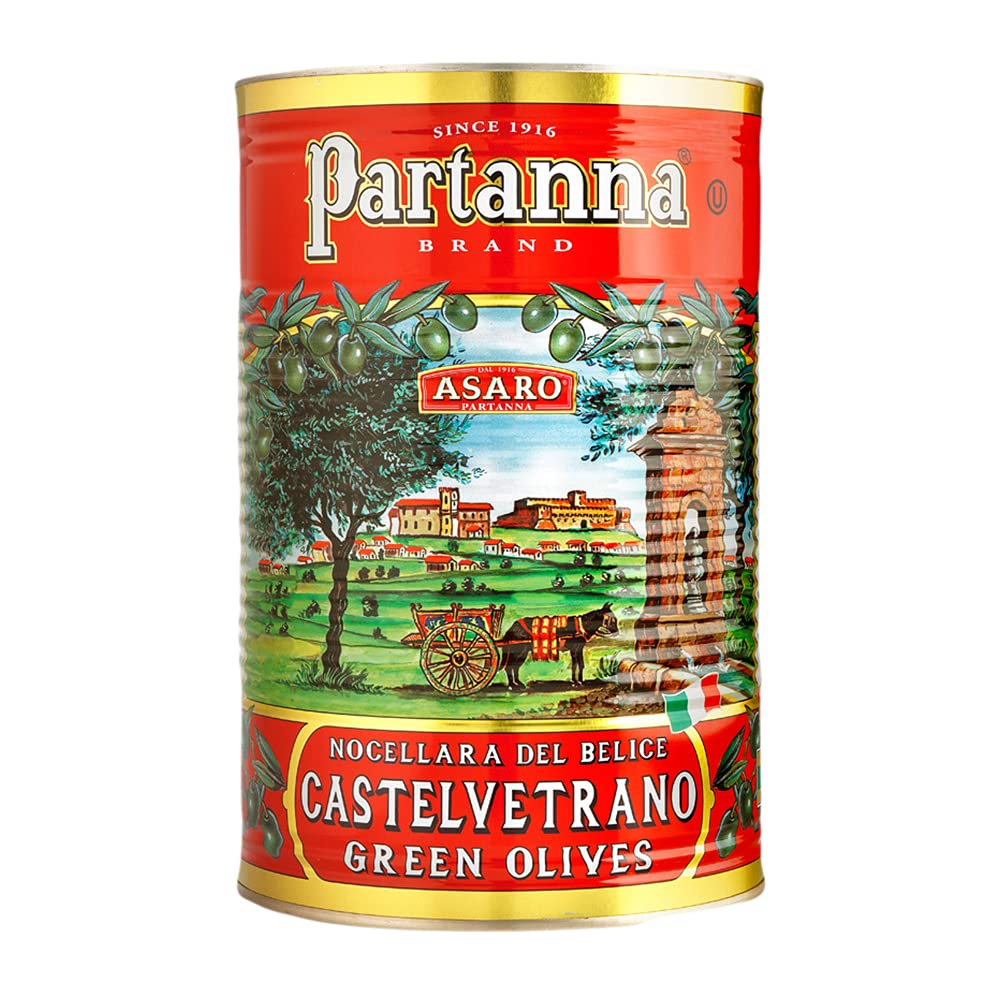 Partanna Sicilian Castelvetrano Green Olives Can 5.07 2021 spring and summer new Pitted lb Max 50% OFF