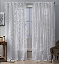 Exclusive Home Curtains Bradford Panel Pair, 54x96, White