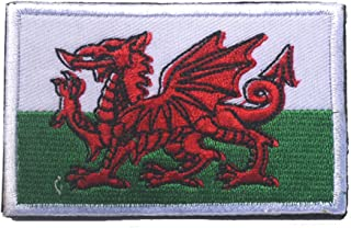 Wales Flag Patch Embroidered Military Tactical Flag Patches