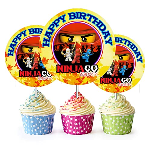 12 Happy Birthday Ninjago Inspired Party Picks Cupcake