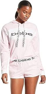 bebe Womens Pajama Set Long Sleeve Shirt and Shorts Sleepwear Pjs Sets