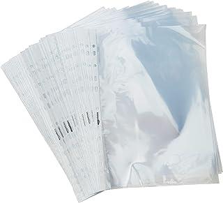 AmazonBasics Pochette perforée, 60 microns, souple, transparente (lot de 100)