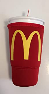 McDonalds SodaSOK Red Large Size 30oz Insulated Thermal Neoprene Drink Cup Sleeve Iced JavaSOK