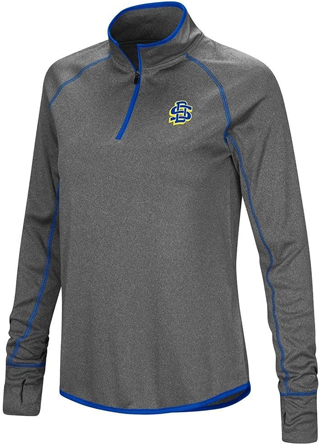 Colosseum Womens South Dakota State Jackrabbits Quarter Zip Wind Shirt
