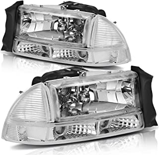 Headlight Assembly For 1997-2004 Dodge Dakota 1998-2003 Dodge Durango Headlamp Housing Replacement