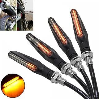 MZS Motorcycle Turn Signal Indicator Blinker Light Lamp Universal for Honda GROM MSX125 CBR 600RR 1000RR / Kawasaki Z125 Z250 Z650 Z900 ZX6R ZX10R / Yamaha YZF R1 R3 R6 R25 FJ09 FZ07 FZ09 FZ10 (4 pcs)