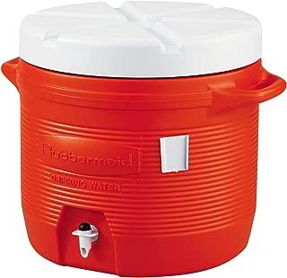 Rubbermaid Commercial 1655-01-11 Plastic Water Coolers, 7 gal, Orange