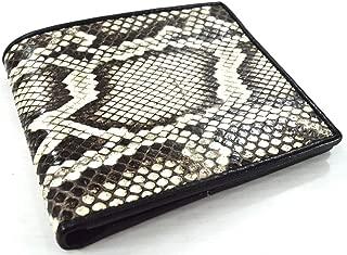 GENUINE PYTHON SNAKE SKIN LEATHER MEN'S BIFOLD WALLET BLACK & WHITE BEIGE NATURAL NEW 100% Authentic snake skin With Beautyfull Gift Box by Somtum_thai Shop