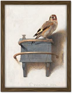 Fabritius The Goldfinch Bird Animal Nature Painting Large Framed Art Print Poster Wall Decor 18x24 in